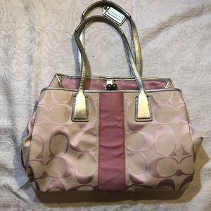 Vintage Pink Coach Bag